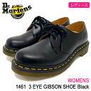 ドクターマーチン Dr.Martens ブーツ 3ホール レディース 女性用 ウィメンズ 1461 3アイ ギブソン シューズ ブラック(DR.MARTENS WOMEN…
