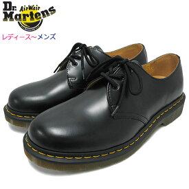 ドクターマーチン Dr.Martens ブーツ 3ホール レディース & メンズ 1461 3アイ ギブソン シューズ ブラック(DR.MARTENS 1461 3 EYE GIBSON SHOE Black 3ホール ドクター マーチン ドクター・マーチン マーティン ワーク ブーツ R11838002)