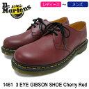 ドクターマーチン Dr.Martens ブーツ 3ホール レディース & メンズ 1461 3アイ ギブソン シューズ チェリーレッド(1461 3 EYE GIBSON S…