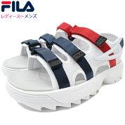 フィラFILAサンダルレディース&メンズディスラプターSDWhite/FilaNavy/FilaRed(FILADISRUPTORSDストラップサンダルスポーツサンダルホワイト白SANDALLADIESMENS・靴シューズSHOESF0304-3081)icefiledicefield