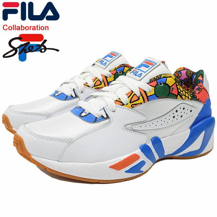 フィラ FILA スニーカー メンズ 男性用 シータ マインドブロワー シータ White/Blue コラボ(FILA×SHETA MINDBLOWER SHETA ダッドシューズ ダッドスニーカー ホワイト 白 SNEAKER MENS・靴 シューズ SHOES F0314-0001) ice filed icefield
