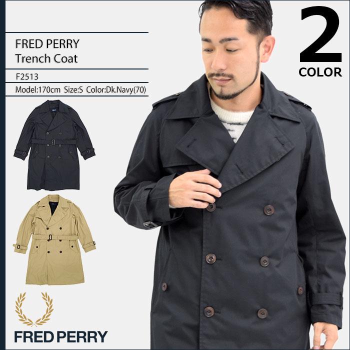 フレッドペリー FRED PERRY ジャケット メンズ トレンチ コート 日本企画(FREDPERRY F2513 Trench Coat JAPAN LIMITED ミドル丈 アウター フレッド ペリー フレッド・ペリー)