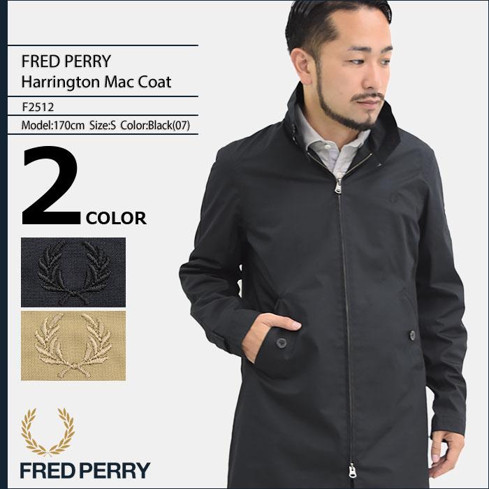 フレッドペリー FRED PERRY ジャケット メンズ ハリントン マック コート 日本企画(FREDPERRY F2512 Harrington Mac Coat JAPAN LIMITED ミドル丈 アウター フレッド ペリー フレッド・ペリー)