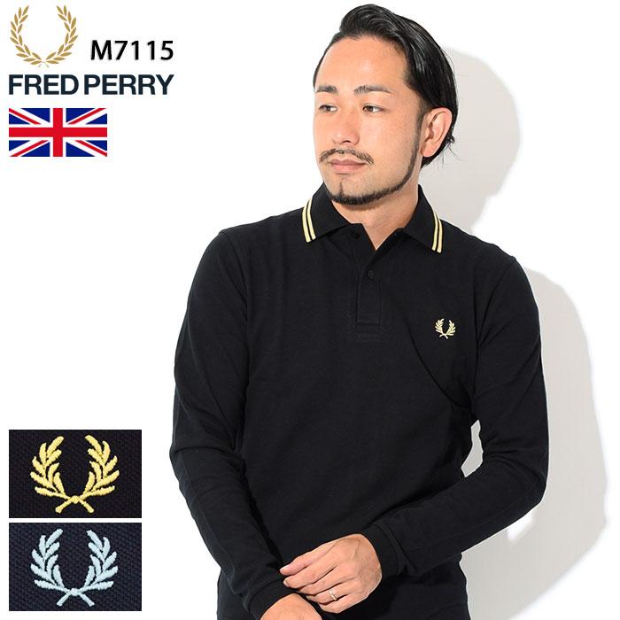 フレッドペリー FRED PERRY ポロシャツ 英国製 長袖 メンズ M7115 イングランド フレッド ペリー ポロ 男性用(FREDPERRY イギリス製 鹿の子 Polo トップス M12N ロングスリーブ)