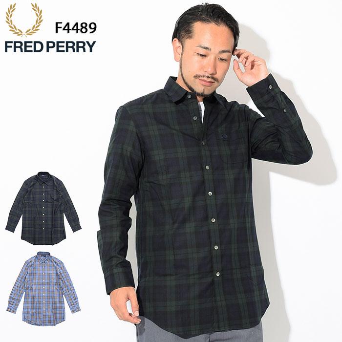 フレッドペリー FRED PERRY シャツ 長袖 メンズ ロング タータン 日本企画(FREDPERRY F4489 Long Tartan L/S Shirt JAPAN LIMITED タータンチェック ロング丈 カジュアルシャツ トップス フレッド ペリー フレッド・ペリー)