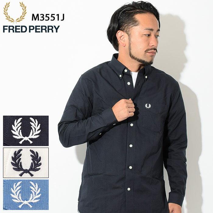 フレッドペリー FRED PERRY シャツ 長袖 メンズ クラシック オックスフォード(FREDPERRY M3551J Classic Oxford L/S Shirt オックスフォードシャツ カジュアルシャツ トップス フレッド ペリー フレッド・ペリー)