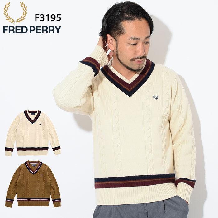フレッドペリー FRED PERRY セーター メンズ チルデン Vネック 日本企画(FREDPERRY F3195 Tilden V-Neck Sweater JAPAN LIMITED ニット トップス フレッド ペリー フレッド・ペリー)