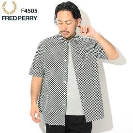 フレッドペリー FRED PERRY シャツ 半袖 メンズ オーバーサイズ 日本企画 ( FREDPERRY F4505 Oversize S/S Shirt JAPAN LIMITED ビッグシルエット カジュアルシャツ トップス フレッド ペリー フレッド・ペリー ) ice field icefield