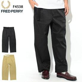 フレッドペリー FRED PERRY パンツ メンズ ワイド トラウザーズ 日本企画(FREDPERRY F4538 Wide Trousers Pant ワイドパンツ ボトムス フレッド ペリー フレッド・ペリー) ice filed icefield