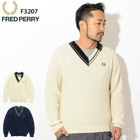 フレッドペリー FRED PERRY セーター メンズ チルデン 日本企画(FREDPERRY F3207 Tilden Sweater JAPAN LIMITED Vネック ニット トップス フレッド ペリー フレッド・ペリー)