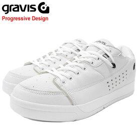グラビス gravis スニーカー メンズ 男性用 ターマック DLX White/Black(gravis TARMAC DLX Progressive Design ホワイト 白 SNEAKER MENS・靴 シューズ SHOES 01000-0002)