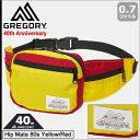 グレゴリー GREGORY ウエストバッグ ヒップメイト 80s イエロー/レッド(gregory 40周年 Hip Mate 80s Yellow/Red 茶タ…