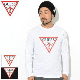 ゲス GUESS Tシャツ 長袖 メンズ トライアングル ロゴ ( GUESS Triangle Logo L/S Tee ティーシャツ T-SHIRTS ロング ロンティー ロンt トップス メンズ 男性用 MJ3K9450K ) ice field icefield