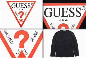 ゲスGUESSTシャツ長袖メンズトライアングルロゴ(GUESSTriangleLogoL/STeeティーシャツT-SHIRTSロングロンティーロンtトップスメンズ男性用MJ3K9450K)icefiledicefield