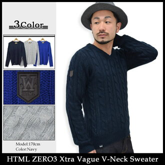 Eichtiemel zero three HTML ZERO3 extra developments V neck sweater (html zero3 Xtra Vague V-Neck Sweater acitihetmel) ice filed icefield