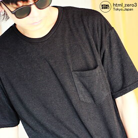 エイチティエムエル ゼロスリー HTML ZERO3 カットソー 半袖 メンズ グローバル コード(html zero3 Global Cord S/S Crew ポケット Tシャツ ティーシャツ T-SHIRTS トップス エイチティーエムエル HTML-CT213)