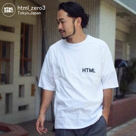 エイチティエムエル ゼロスリー HTML ZERO3 カットソー 半袖 メンズ レイジー ヘブン(html zero3 Lazy Heaven S/S Crew ポケット ビッグシルエット オーバーサイズ Tシャツ ティーシャツ T-SHIRTS トップス エイチティーエムエル HTML-CT214)