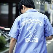 エイチティエムエルゼロスリーHTMLZERO3シャツ半袖メンズウィニーベアー(htmlzero3WinnieBearS/SShirtREDKAPレッドキャップビッグシルエットオーバーサイズワークシャツカジュアルシャツトップスエイチティーエムエルHTML-SHT133)icefiledicefield