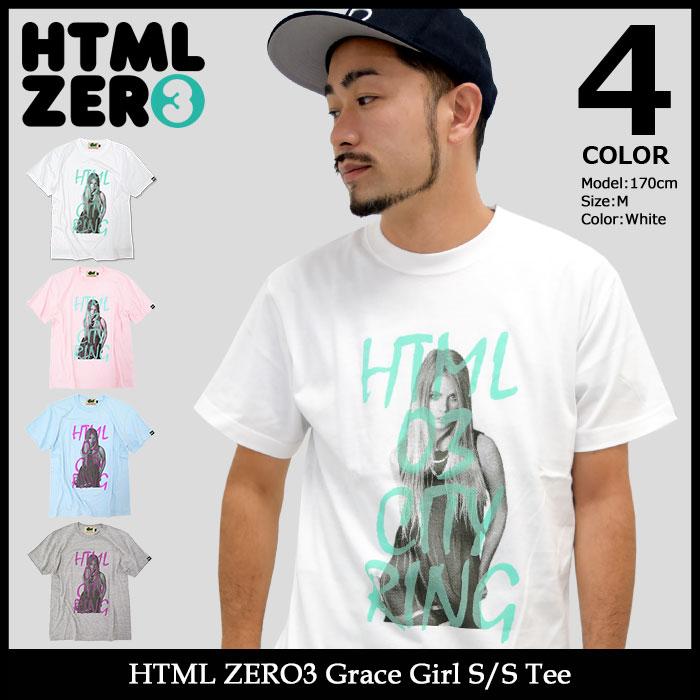 エイチティエムエル ゼロスリー HTML ZERO3 Tシャツ 半袖 メンズ グレース ガール(html zero3 Grace Girl S/S Tee ティーシャツ T-SHIRTS カットソー トップス エイチティーエムエル)