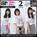 【10月下旬発送予定】エイチティエムエル ゼロスリー HTML ZERO3 Tシャツ 半袖 メンズ タスク ハブ ファン ジャンク フード コラボ(html zero3×Task have Fun J