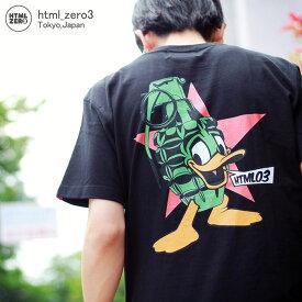 エイチティエムエル ゼロスリー HTML ZERO3 Tシャツ 半袖 メンズ エクスプロージョン ダック(html zero3 Explosion Duck S/S Tee ティーシャツ T-SHIRTS カットソー トップス エイチティーエムエル HTML-T539)[M便 1/1]