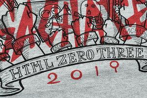 エイチティエムエルゼロスリーHTMLZERO3Tシャツ長袖メンズガチャピンGRFファナティックコラボ(HTMLZERO3×GachapinGRFFanaticL/STeeCollaborationティーシャツT-SHIRTSカットソートップスロングロンティーロンtエイチティーエムエルHTML-T573)