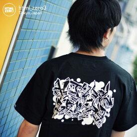 エイチティエムエル ゼロスリー HTML ZERO3 Tシャツ 半袖 メンズ グラフィティ ゲート(html zero3 Graffiti Gate S/S Tee ティーシャツ T-SHIRTS カットソー トップス エイチティーエムエル HTML-T536)[M便 1/1]