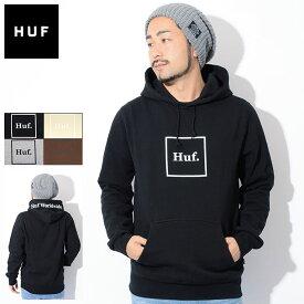 ハフ HUF プルオーバー パーカー メンズ ボックス ロゴ ( HUF Box Logo Pullover Hoodie フード フーディ スウェット Pull Over Hoody Parker トップス メンズ 男性用 PF00098 ) ice field icefield