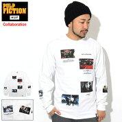 ハフHUFTシャツ長袖メンズパルプフィクションシーンズコラボ(HUF×PULPFICTIONScenesL/STeeティーシャツT-SHIRTSロングロンティーロンtカットソートップスメンズ男性用TS01306)icefieldicefield