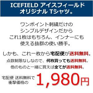 【送料無料】アイスフィールドICEFIELDTシャツ半袖メンズエンブロイダリーロゴ(icefieldEmbroideryLogoS/STeeティーシャツT-SHIRTSカットソートップスIF-T002)