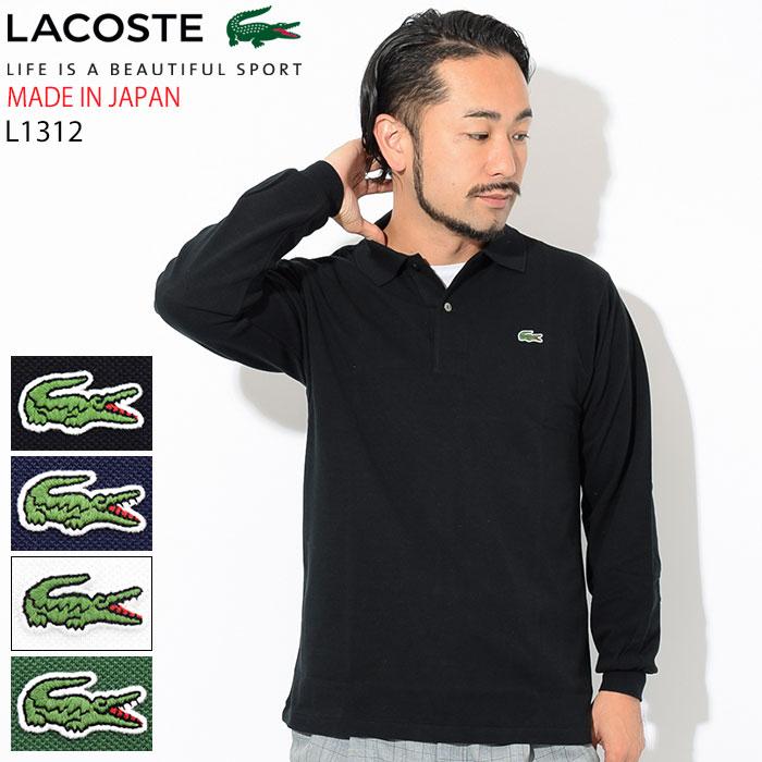 ラコステ LACOSTE ポロシャツ 日本製 定番 長袖 メンズ L1312AL ジ オリジン ポロ 男性用(L1312AL The Origin Polo Shirt MADE IN JAPAN メイド イン ジャパン 日本企画 トップス ポロ・シャツ)