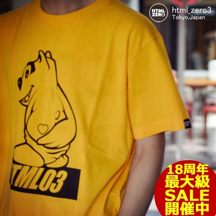 エイチティエムエル ゼロスリー HTML ZERO3 Tシャツ 半袖 メンズ ウィニー ベアー(html zero3 Winnie Bear S/S Tee ティーシャツ T-SHIRTS カットソー トップス エイチティーエムエル HTML-T542)[M便 1/1] ice filed icefield