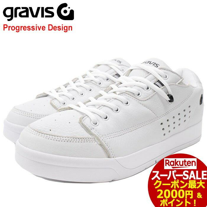 スーパーセール開催!グラビス gravis スニーカー メンズ 男性用 ターマック DLX White/Black(gravis TARMAC DLX Progressive Design ホワイト 白 SNEAKER MENS・靴 シューズ SHOES 01000-0002)