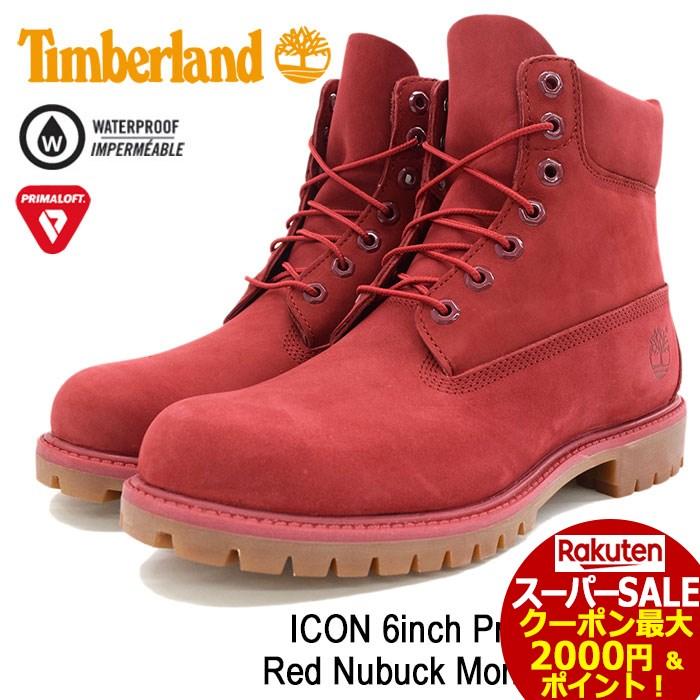 スーパーセール開催!【日本正規品】ティンバーランド Timberland ブーツ メンズ 男性用 アイコン 6インチ プレミアム Red Nubuck Monochromatic(timberland A1149 ICON 6inch Premium Boot レッド 赤 防水 男性 紳士用 MENS・靴 メンズ靴)