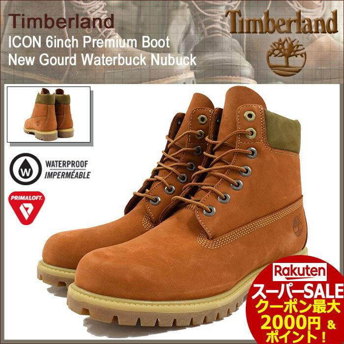 スーパーセール開催!【日本正規品】【30%OFF】ティンバーランド Timberland ブーツ メンズ アイコン 6インチ プレミアム ニュー ゴード ウォーターバック ヌバック(timberland A17YC 6inch Premium Boot New Gourd Waterbuck Nubuck 防水 男性用 MENS・靴 メンズ靴)