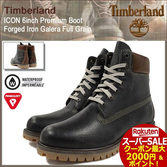 スーパーセール開催!【日本正規品】ティンバーランド Timberland ブーツ メンズ アイコン 6インチ プレミアム フォージト アイアン ガレラ フルグレイン(timberland A18AW ICON 6inch Boot Forged Iron Galera Full Grain ブラウン 茶 防水 男性 MENS・靴 メンズ靴)
