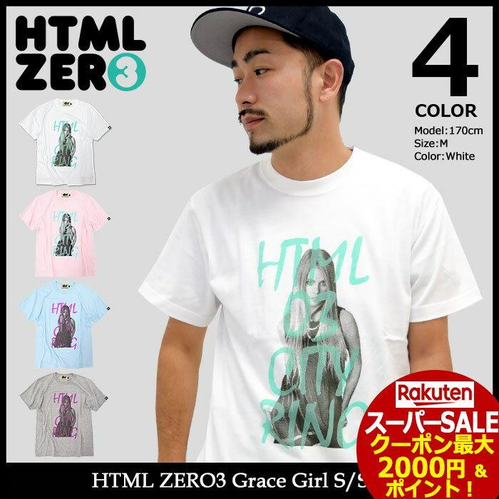 スーパーセール開催!エイチティエムエル ゼロスリー HTML ZERO3 Tシャツ 半袖 メンズ グレース ガール(html zero3 Grace Girl S/S Tee ティーシャツ T-SHIRTS カットソー トップス エイチティーエムエル)