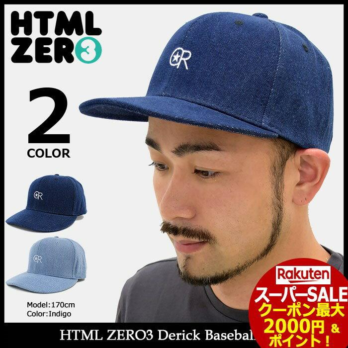 スーパーセール開催!エイチティエムエル ゼロスリー HTML ZERO3 キャップ メンズ デリック ベースボールキャップ(html zero3 Derick Baseball Cap スナップバック 帽子 エイチティーエムエル)