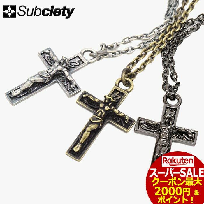 スーパーセール開催!サブサエティ Subciety ネックレス メンズ ジーザス メタル(subciety サブサエティー Jesus Metal Necklace アクセサリー 103-94067)