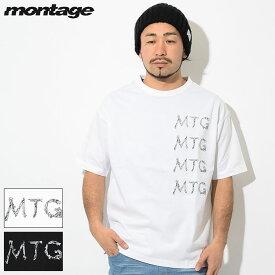 モンタージュ montage Tシャツ 半袖 メンズ トラッシュ MTG ロゴ ( montage Trash MTG Logo S/S Tee ビッグシルエット オーバーサイズ ティーシャツ T-SHIRTS カットソー トップス MT-T016 )[M便 1/1]