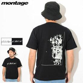 モンタージュ montage Tシャツ 半袖 メンズ トラッシャー アキュムレーション ( montage Trasher Accumulation S/S Tee ティーシャツ T-SHIRTS カットソー トップス MT-T015 )[M便 1/1]