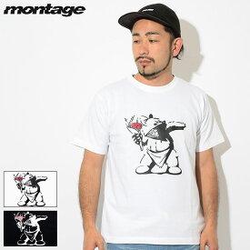 モンタージュ montage Tシャツ 半袖 メンズ ベアーズ スロー フラワーズ ( montage Bears Throw Flowers S/S Tee ティーシャツ T-SHIRTS カットソー トップス MT-T014 )[M便 1/1]