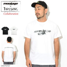 モンタージュ montage Tシャツ 半袖 メンズ フェアリーゴーン ノイズ ロゴ コラボ ( montage×Fairy gone Noize Logo S/S Tee ティーシャツ T-SHIRTS カットソー トップス MT-TFG02 )[M便 1/1]