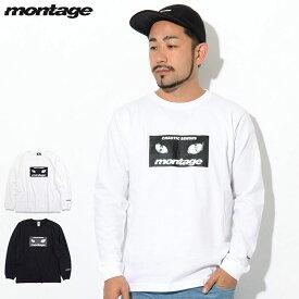 モンタージュ montage Tシャツ 長袖 メンズ キャット アイズ ボックス ( montage Cat Eyes Box L/S Tee ティーシャツ T-SHIRTS ロング ロンティー ロンt トップス MT-T020 )