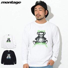 モンタージュ montage Tシャツ 長袖 メンズ ハグ ミー ベアー ( montage Hug Me Bear L/S Tee ティーシャツ T-SHIRTS ロング ロンティー ロンt トップス MT-T021 )