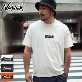 【送料無料】ナンガ NANGA Tシャツ 半袖 メンズ ロゴ ( NANGA Logo S/S Tee ティーシャツ T-SHIRTS カットソー トップス メンズ 男性用 )[M便 1/1] ice field icefield