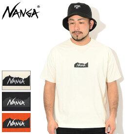 ナンガ NANGA Tシャツ 半袖 メンズ ロゴ ( NANGA Logo S/S Tee ティーシャツ T-SHIRTS カットソー トップス メンズ 男性用 )[M便 1/1] ice field icefield