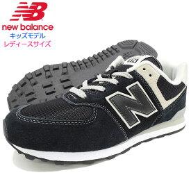 c43245f827079 ニューバランス new balance スニーカー キッズモデル レディース対応サイズ GC574 GK Black/Grey(NEWBALANCE