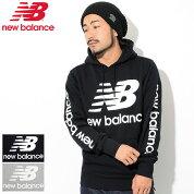 ニューバランスnewbalanceプルオーバーパーカーメンズNBロゴ(newbalanceNBLogoPulloverHoodieフードフーディスウェットPullOverHoodyParkerトップスメンズ男性用MT83586)