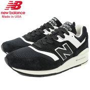ニューバランスnewbalanceスニーカーメンズ男性用M997BBKBlack/WhiteメイドインUSA(newbalanceM997BBKMadeinUSAブラック黒SNEAKERMENS・靴シューズSHOESM997-BBK)icefiledicefield